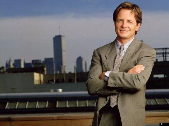 Michael J. Fox in Spin City.