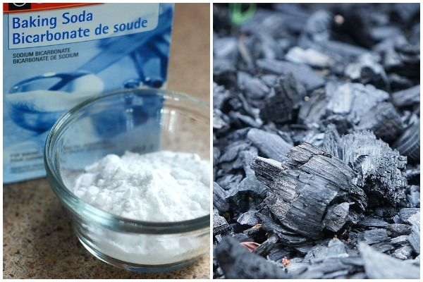 Baking soda and charcoal.
