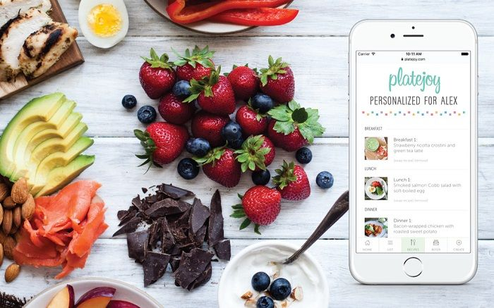 Food on the table with Plate Joy App