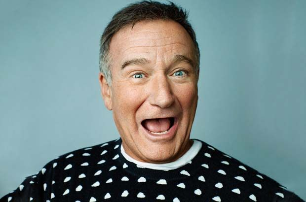 Robin Williams making a funny face
