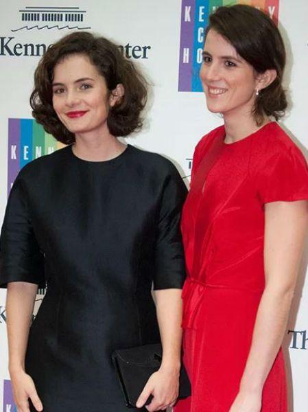Rose and Tatiana Schlossberg attend a Kennedy Center event