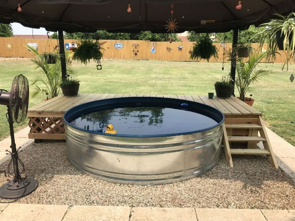 How To Build And Decorate A Stock Tank Pool