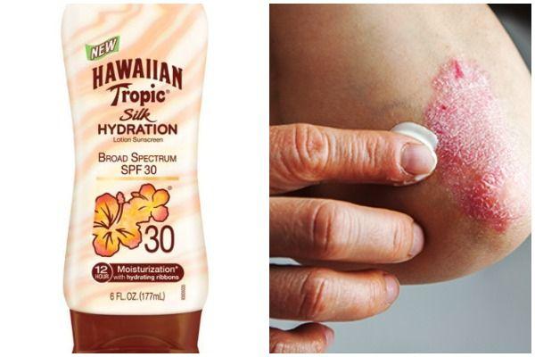 Dry skin sunscreen