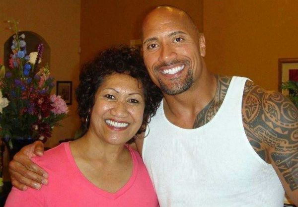 The Rock and his mother Ata Johnson.
