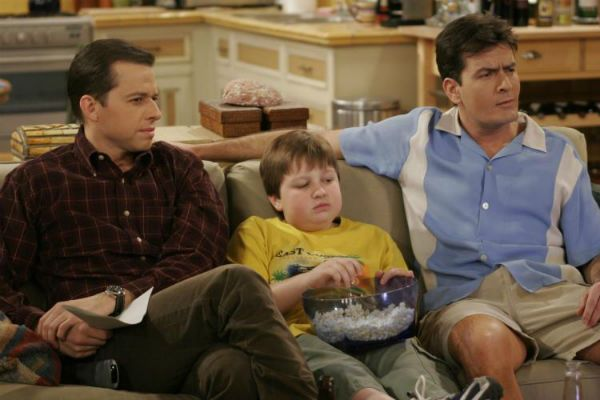 The cast of 'Two and a Half Men.'