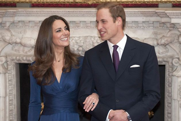 William and Kate after their engagement