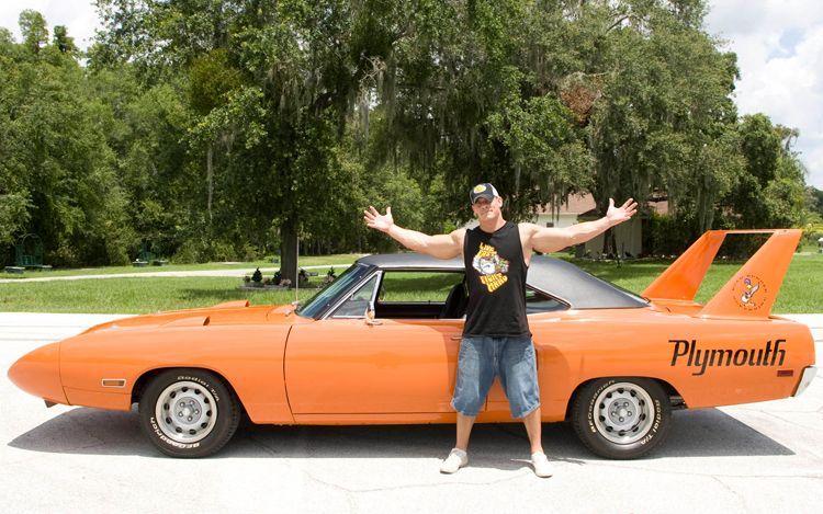 John Cena and his muscle car