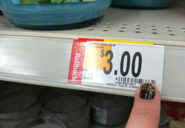 Walmart price code