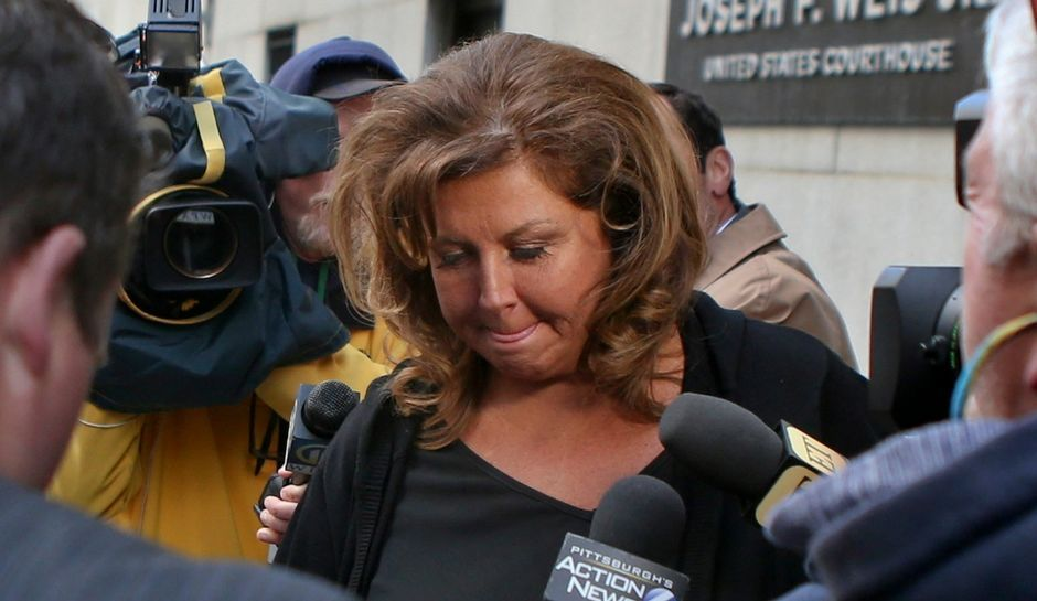 Abby Lee Miller leaving the courthouse