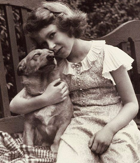 Queen Elizabeth II with her father's dog