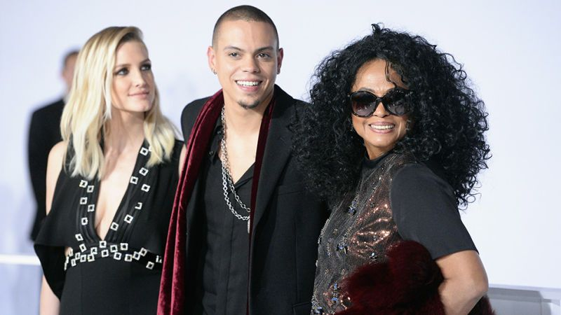 Ashlee Simpson and Diana Ross