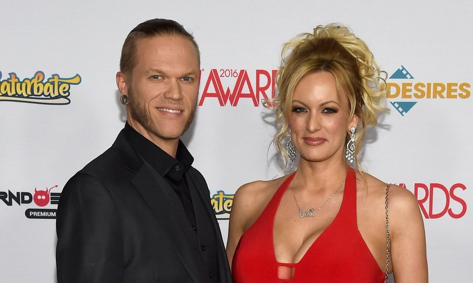 Stormy and her husband Glendon Crain at an awards show