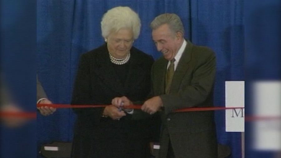 Barbara Bush at the Maine Medical Center