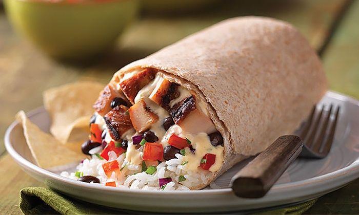 Qdoba Mexican Grill Burrito