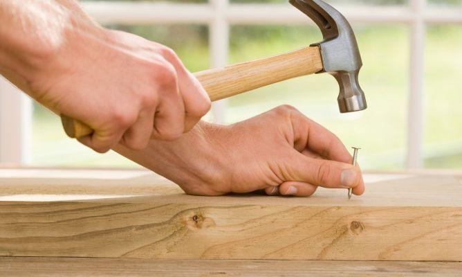 Hammering a nail