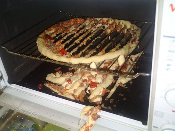 melted pizza