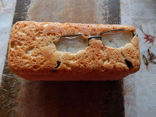 glasses in bread