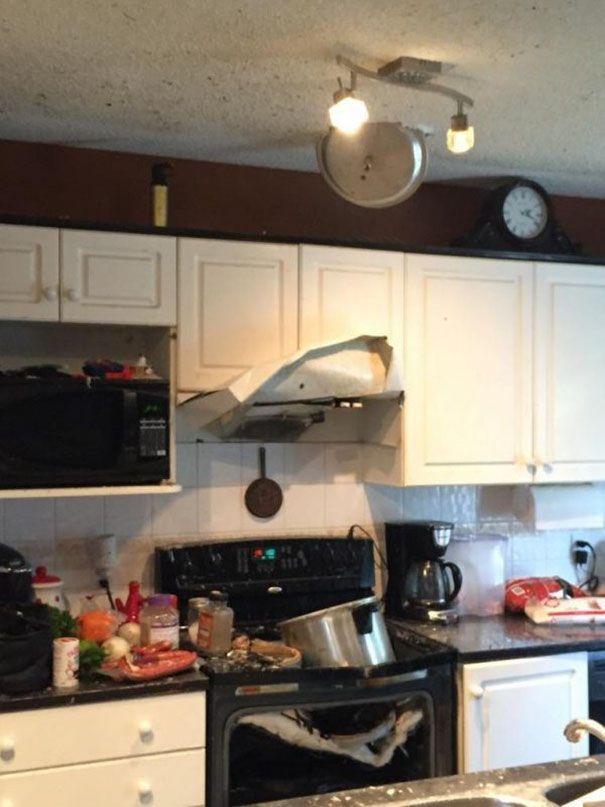 kitchen explosion