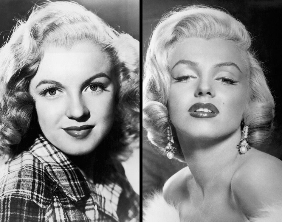 Marilyn Monroe's before and after plastic surgery