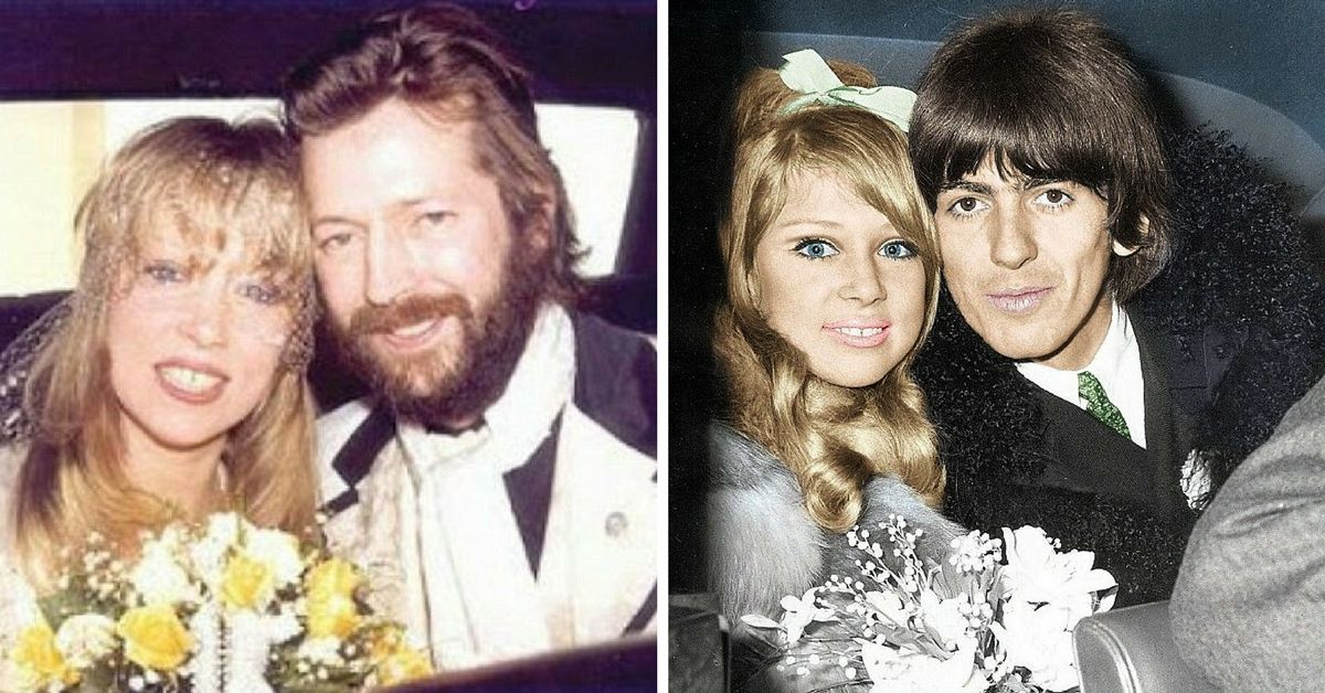 George Harrison, Pattie Boyd & Eric Clapton