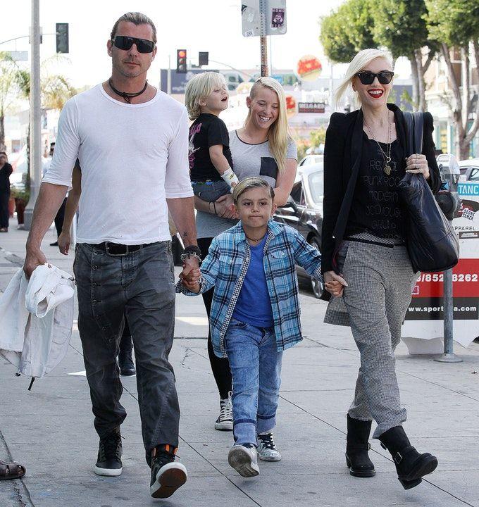 Gwen Stefani, Gavin Rossdale & The Nanny