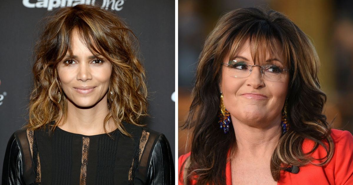 Halle Berry and Sarah Palin side by side