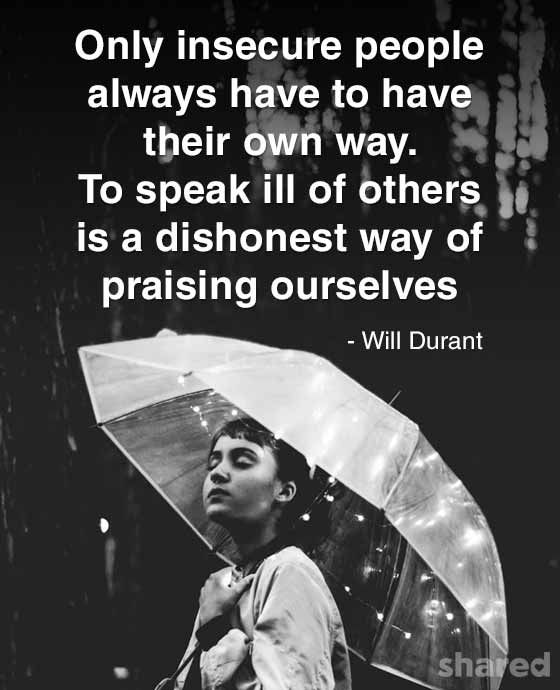 Insecurity Quotes Will Durant