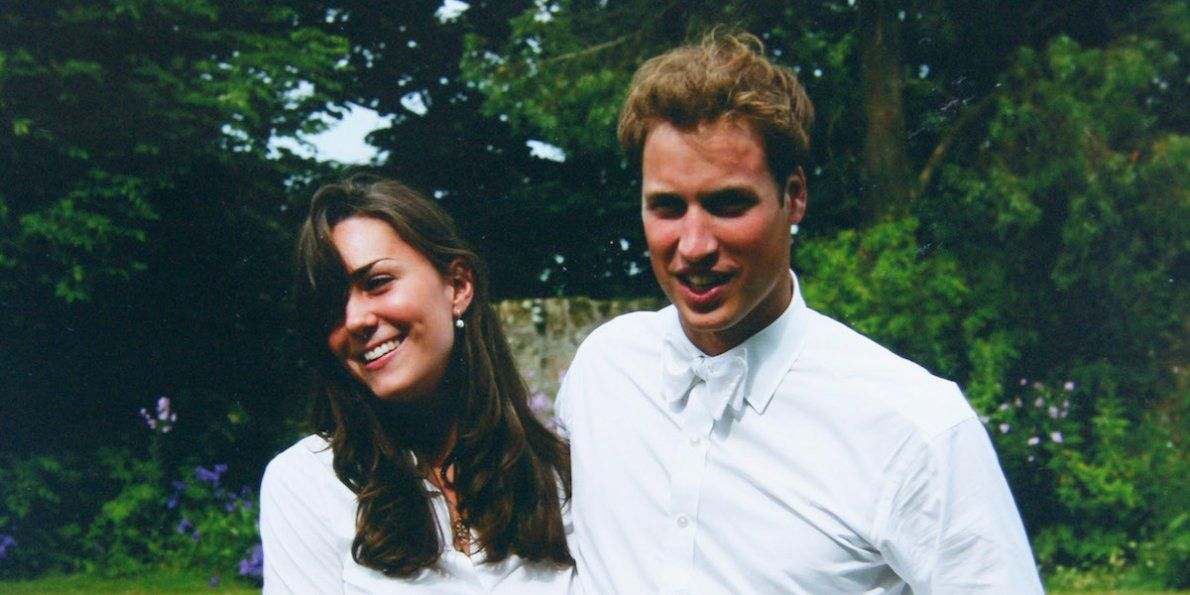 Young Prince William and Kate Middleton