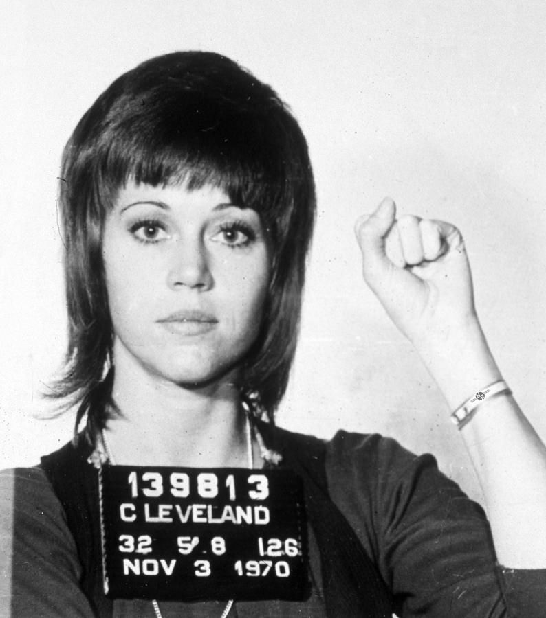 Jane Fonda's mugshot