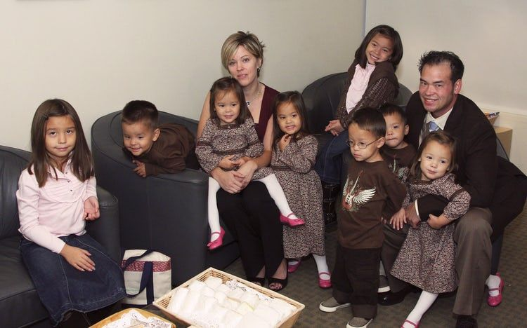 Jon and Kate and their eight children
