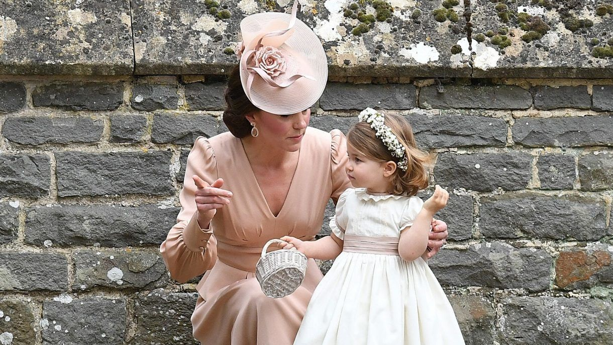 Kate and Charlotte at Pippa's wedding
