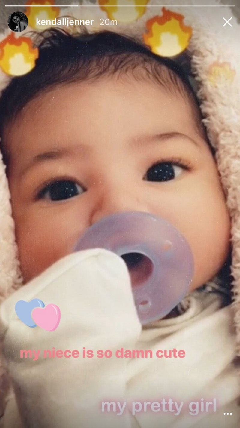 Kendall Jenner posts picture of Stormi