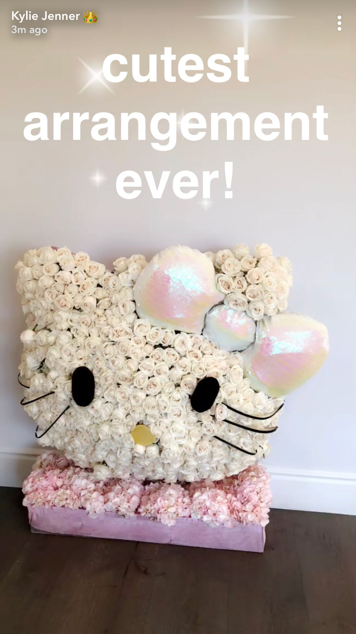 Hello Kitty flower arrangement