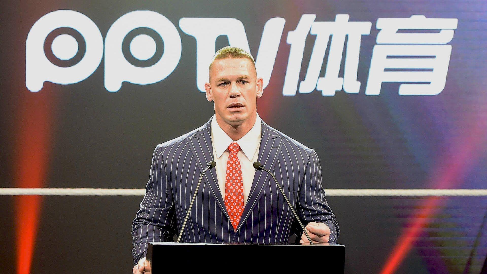 John Cena giving a speech