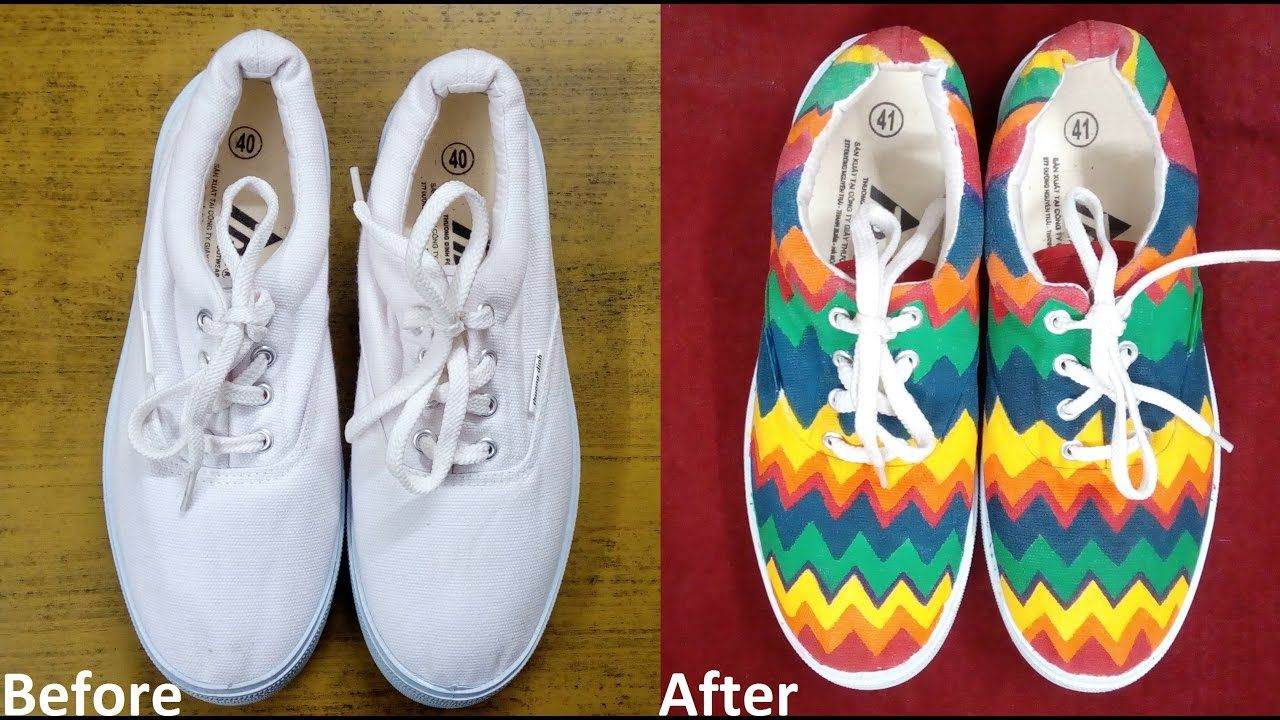 coloring shoes