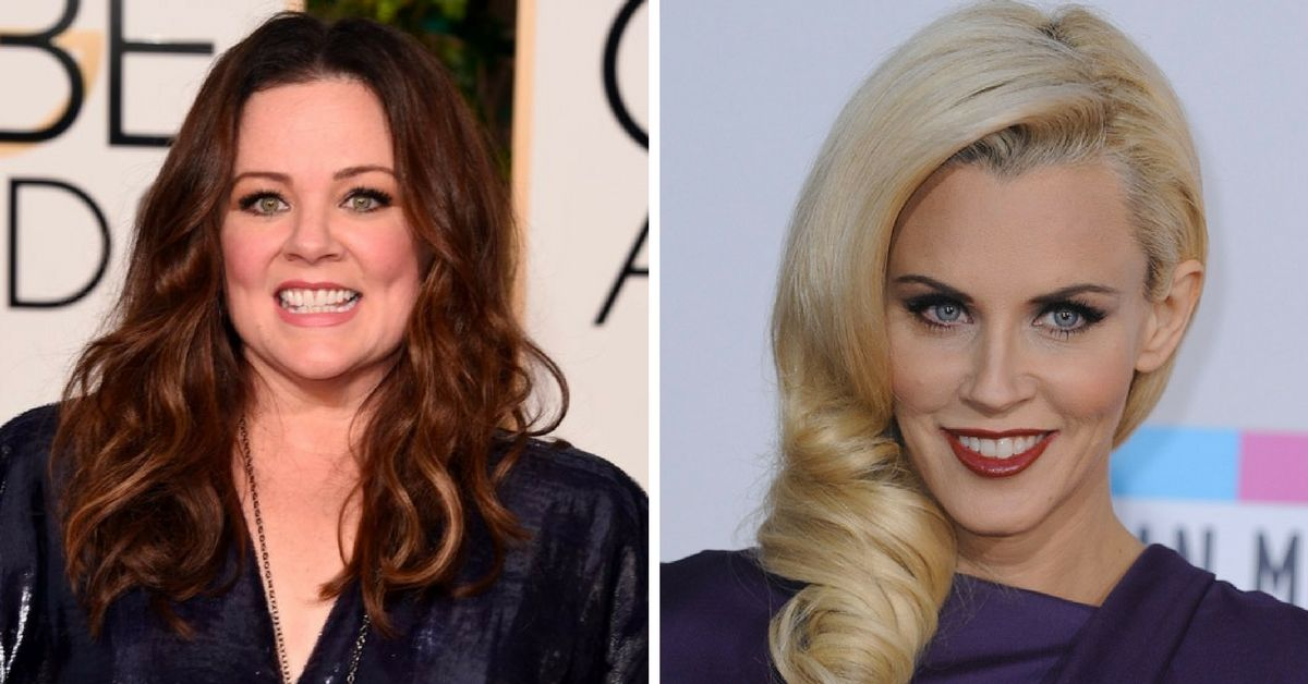 Jenny and Melissa McCarthy side by side