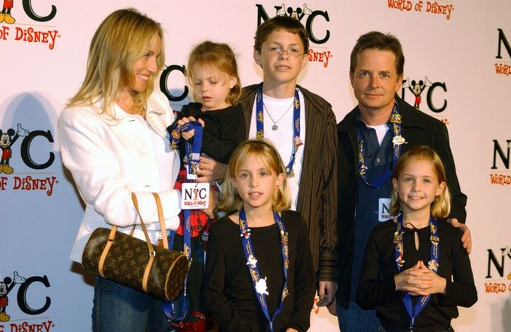 Michael J. Fox and his family