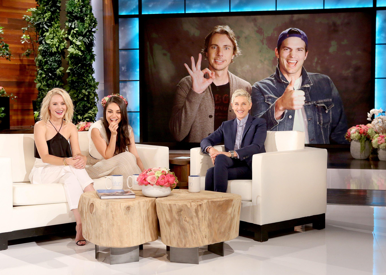 Ashton and Mila on The Ellen DeGeneres Show