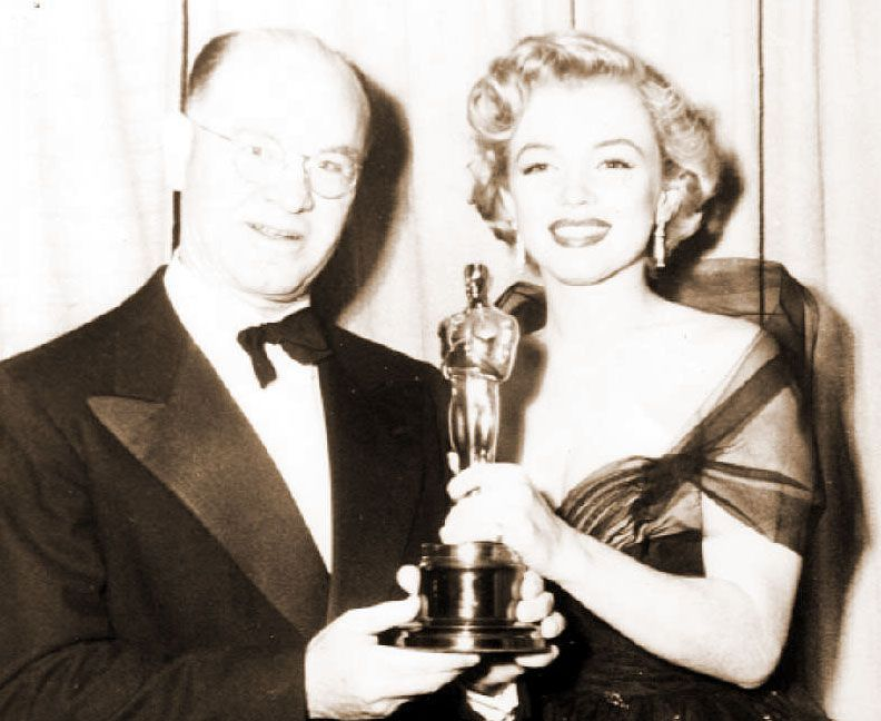 Marilyn Monroe and Thomas T. Moulton at the 1951 Oscars