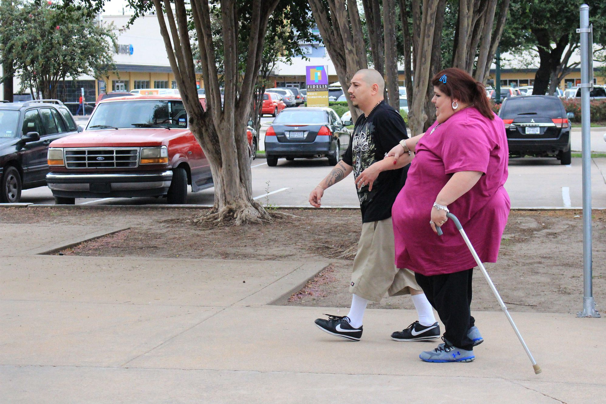 Laura Perez on a walk with her ex-husband Joey