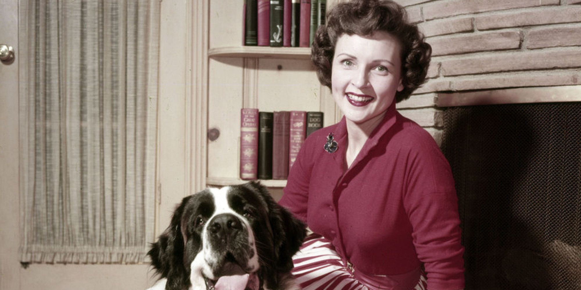 Betty White and her pet dog