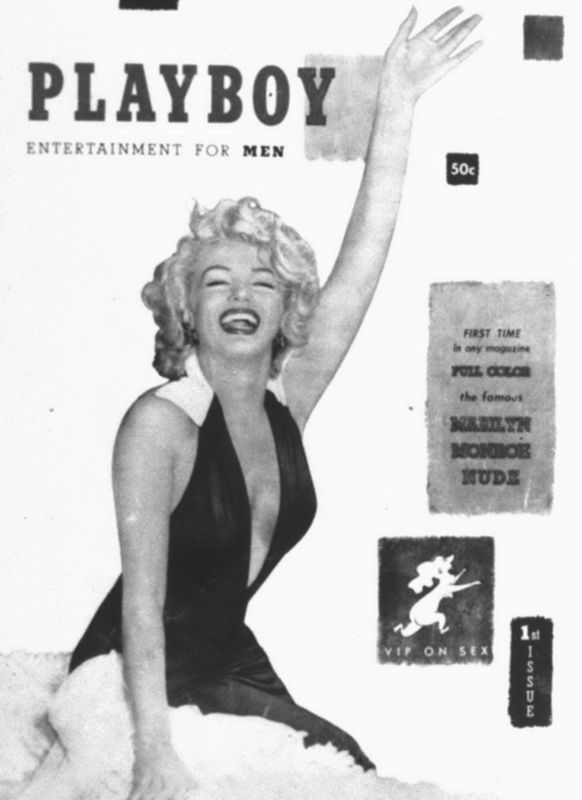 Marilyn Monroe on the cover of Playboy