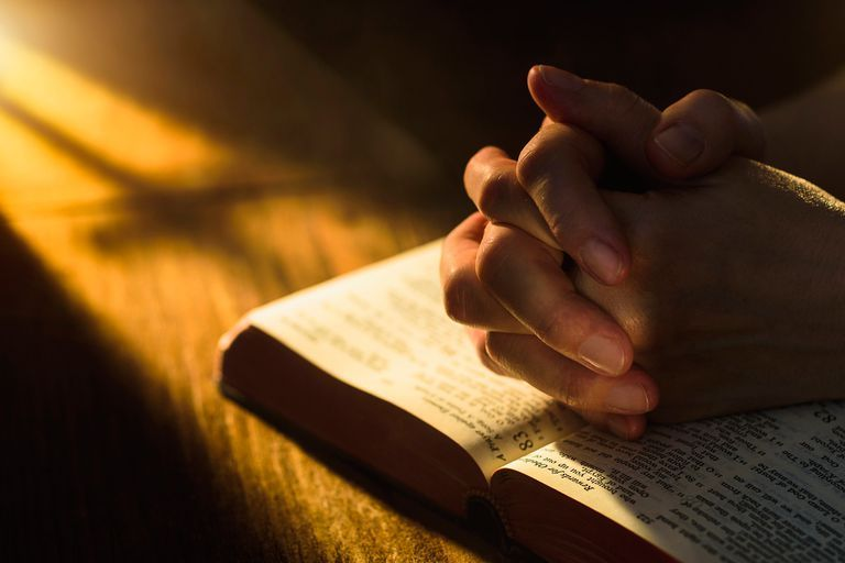 Praying with a Bible