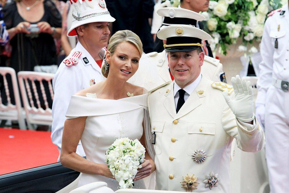 Prince Albert and Charlene on their wedding day