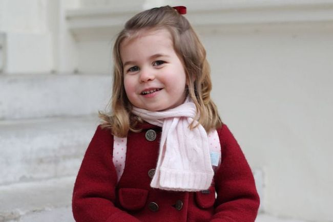 Princess Charlotte on her first day of preschool