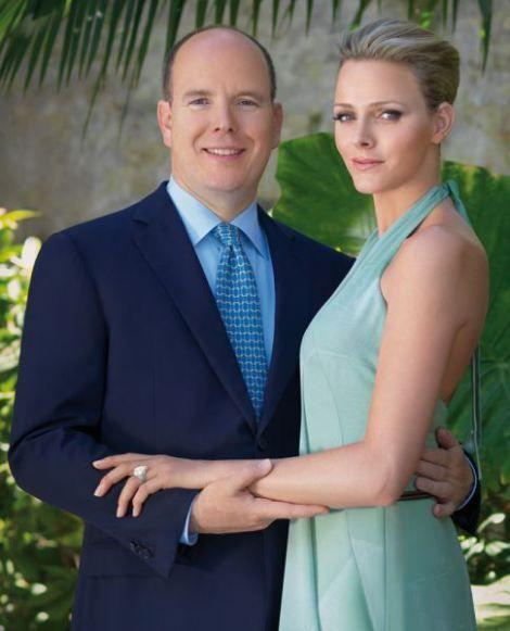 Prince Albert and Charlene engagement photo
