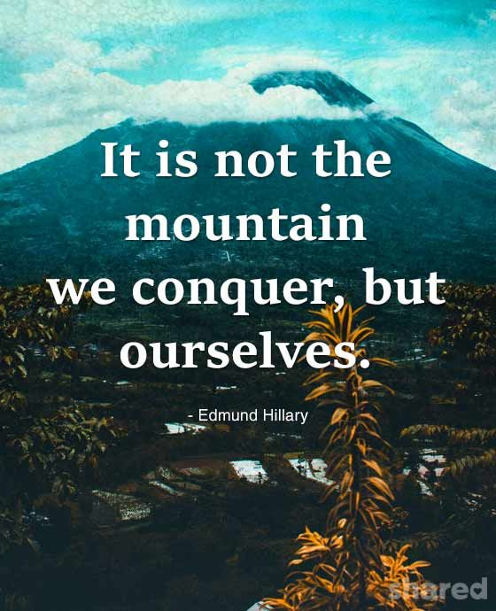 Mountain Confidence Quotes