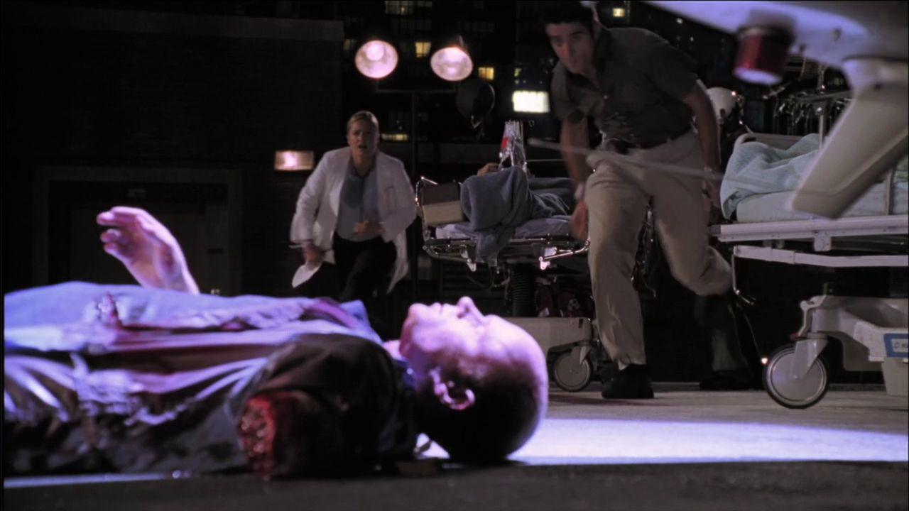 Romano lying on the ground