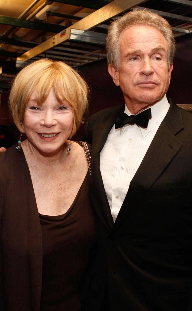 Warren Beatty and Shirley MacLaine at a fancy gathering