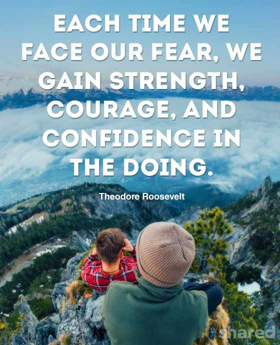 Face Fear Quote Roosevelt